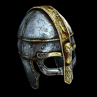historically viking helmet 3d model